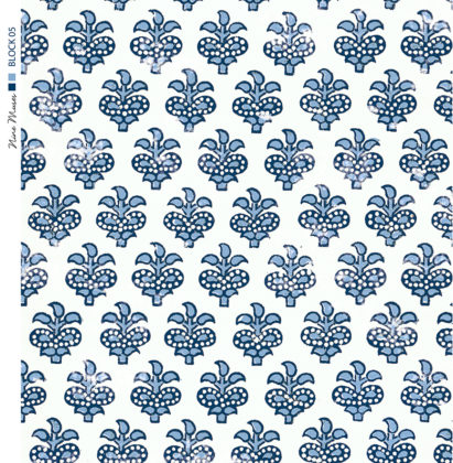 Linen fabric printed with a small repeated design