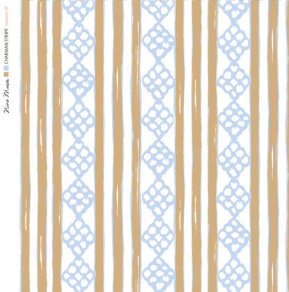 Linen fabric with small repeat painted stripe printed pattern