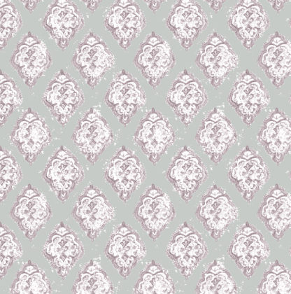 Linen fabric printed in traditional pattern repeat design in charcoal
