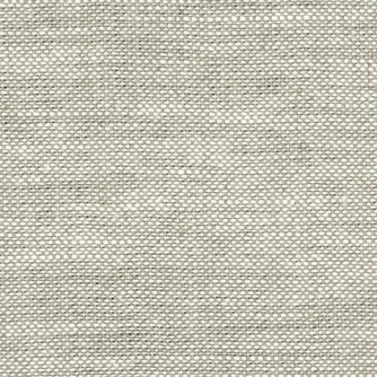 Plain linen fabric used as a base cloth for printing in oatmeal colour