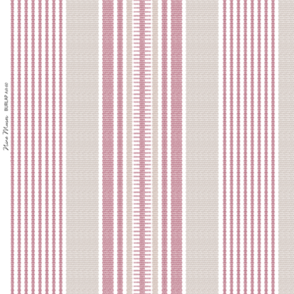 Linen fabric printed with a varying width stripe pattern