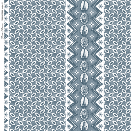 Linen fabric with printed small repeat design