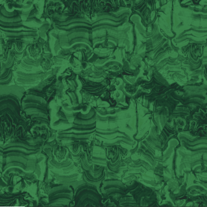 Linen fabric printed in deep green in a marble effect design